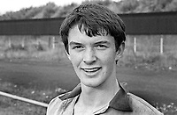 Barry Brown, footballer, Linfield FC, Belfast, N Ireland, September, 1967, 196709000108<br /> <br /> Copyright Image from Victor Patterson, 54 Dorchester Park, Belfast, UK, BT9 6RJ<br /> <br /> t1: +44 28 9066 1296 (from Rep of Ireland 048 9066 1296)<br /> t2: +44 28 9002 2446 (from Rep of Ireland 048 9002 2446)<br /> m: +44 7802 353836<br /> <br /> e1: victorpatterson@me.com<br /> e2: victorpatterson@gmail.com<br /> <br /> The use of any of my copyright images is subject to my Terms & Conditions. It is IMPORTANT that you familiarise yourself with them. They are available at my website, victorpatterson.com.<br /> <br /> None of my copyright images may be used on the Internet unless they are visibly watermarked, i.e. © Victor Patterson within the body of the image. My metadata, denoting my copyright must NOT be deleted. <br /> <br /> Web use is extra at currently recommended NUJ rates. Maximum permitted web size is<br />  400kb. <br /> <br /> Images must not be passed on to a third party - they are for the use of the authorised recipient only.