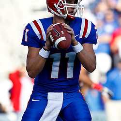 December 4, 2010; Ruston, LA, USA; Louisiana Tech Bulldogs quarterback Ross Jenkins (11) against the Nevada Wolf Pack during the first half at Joe Aillet Stadium.  Mandatory Credit: Derick E. Hingle
