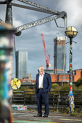 © Licensed to London News Pictures . 24/09/2018 . Salford , UK . ANDY BELL of AJ Bell Financial Services on the towpath by the River Irwell in Ordsall . The business is due to be floated on the Stock Market at the start of 2019 . Photo credit : Joel Goodman/LNP