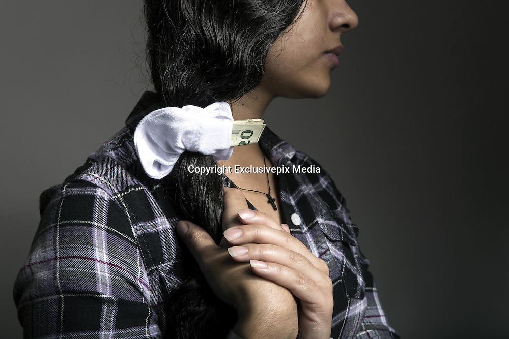 Washington, D.C, U.S - <br /> <br /> 'Unaccompanied' - Children On The Border<br /> <br /> A new surge of unaccompanied children from Central American countries is expected at the U.S. southern border, as officials ask Congress for more money to handle them. Customs and Border Protection estimated 75,000 children may arrive at the ports of entry before the end of the current fiscal year. Already, the number of minors arriving at the border is growing, with 20,000 apprehended at the border in the first five months of the federal fiscal year - double the number from a year earlier. <br /> <br /> 'Unaccompanied' is a visual story of youth immigrants who were among the thousands of children seeking refuge from the violence of Honduras, El Salvador and Guatemala. Following Obama's statement announcing a humanitarian crisis on the border in summer 2014, these youth captured the national spotlight. Countless articles related sensationalized stories of tragic and violent journeys. Noticeably absent from the discourse were the voices and stories of the youth themselves. What circumstances drove the children to seek refuge on US soil? What challenges do they face adapting to a new life in a foreign land? 'Unaccompanied' provides these youth a platform to directly share their personal stories with the public, free from the bias of a political agenda, and elevate their individual and collective challenges. Unaccompanied child immigrants represent an entanglement of issues in both the countries they hail from and to. This project seeks to demonstrate the realities that youth immigrants face: the doubts, aspirations, complexity and humanity of their experience.<br /> <br /> <br /> KARINA hid money on a hair scrunchie during the whole trip from El Salvador to the USA in the case of an emergency. Building up strong family relationships after being separated for a long time is complicated,' says Karina. Karina was raised by her grandmother in El Salvador and didn't meet her biologic