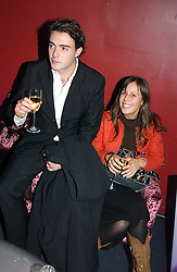 MR LOUIS WEYMOUTH and CATHERINE ALLSOPP at a party hosted by Panerai and the Baglioni Hotel, 60 Hyde Park Gate, London on 6th December 2004.<br />