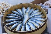 Sineu's famous Wednesday Market. Marinated sardines.