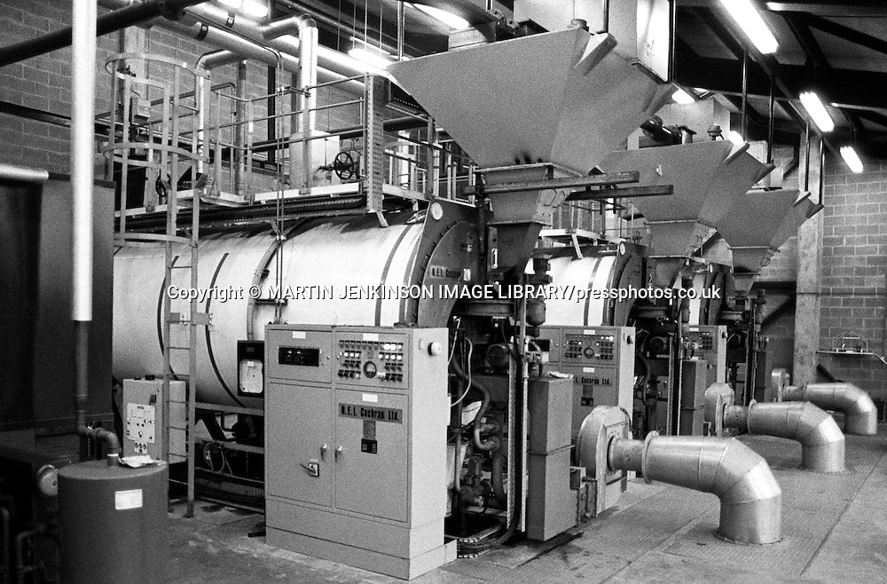 Coalmaster 3 fluidised bed boiler,Stillingfleet Mine. 1983