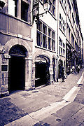 Street scene in old town Vieux Lyon, France (UNESCO World Heritage Site)