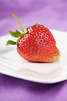 Strawberry on plate - studio shot