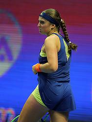 February 2, 2018 - Russia - Russian Federation. Saint-Petersburg. SIBUR arena. Tennis. WTA. St. Petersburg Ladies Trophy 2018. Women. Petra KVITOVA - Jelena OSTAPENKO. (Credit Image: © Russian Look via ZUMA Wire)