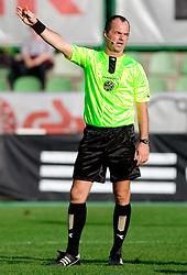 Referee Joze Vehar at the football match Interblock vs NK Luka Koper in 12th Round of Prva liga 2009 - 2010,  on October 03, 2009, in ZSD Ljubljana, Ljubljana, Slovenia. Luka Koper won 1:0.  (Photo by Vid Ponikvar / Sportida)
