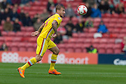 Kyle McFadzean (Milton Keynes Dons) during the Sky Bet Championship match between Middlesbrough and Milton Keynes Dons at the Riverside Stadium, Middlesbrough, England on 12 September 2015. Photo by George Ledger.