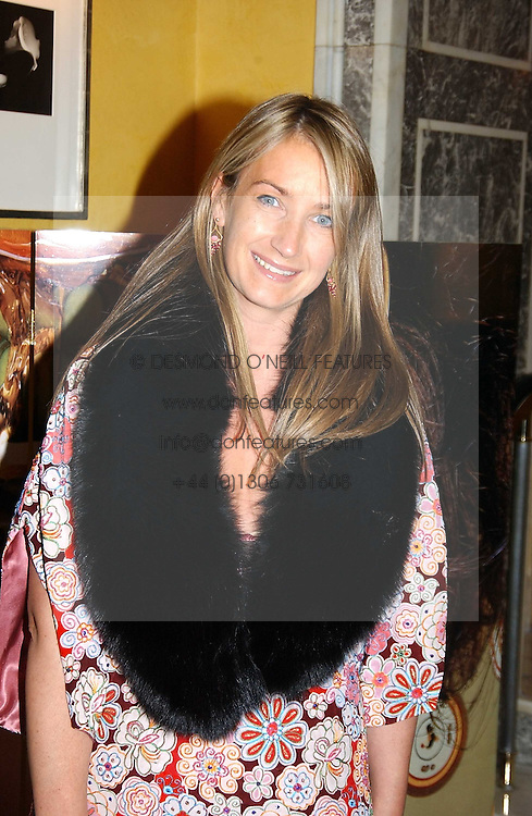 ANYA HINDMARCH at the launch of MAC's High Tea collection with leading British designers held at The Berkeley Hotel, London on 17th January 2005.  MAC has collabroated with The Berkeley's Pret-a-Portea, which adds a creative twist to th classic elements of the English afternoon tea with cakes and pastries inspired by fashion designs.<br /><br />NON EXCLUSIVE - WORLD RIGHTS