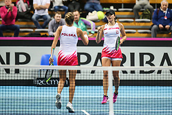 February 6, 2019 - Zielona Gora, Poland - Alicja Rosolska (POL) and Iga Swiatek (POL) during Tennis 2019 Fed Cup by Paribas Europe/Africa Zone Group 1  match between Poland and Russia  in Zielona Gora, Poland, on 7 February 2019. (Credit Image: © Foto Olimpik/NurPhoto via ZUMA Press)