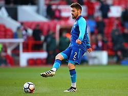 Mathieu Debuchy of Arsenal - Mandatory by-line: Robbie Stephenson/JMP - 07/01/2018 - FOOTBALL - The City Ground - Nottingham, England - Nottingham Forest v Arsenal - Emirates FA Cup third round proper