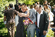 SHOT 6/2/16 11:18:10 AM - Colorado Academy Class of 2016 Commencement ceremonies at the Denver, Co. private school. The school graduated 88 seniors this year and the event capped a week filled with awards, tributes, and celebrations for the outgoing senior class. (Photo by Marc Piscotty / © 2016)