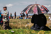 Person with umbrella, Chapel Hill, Brecon, Wales May 2009