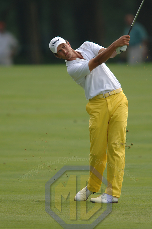 June 2005:  Defending Champion Adam Scott in action during Booz Allen Classic on June 11, 2005 at Congressional Country Club in Bethesda, MD.
