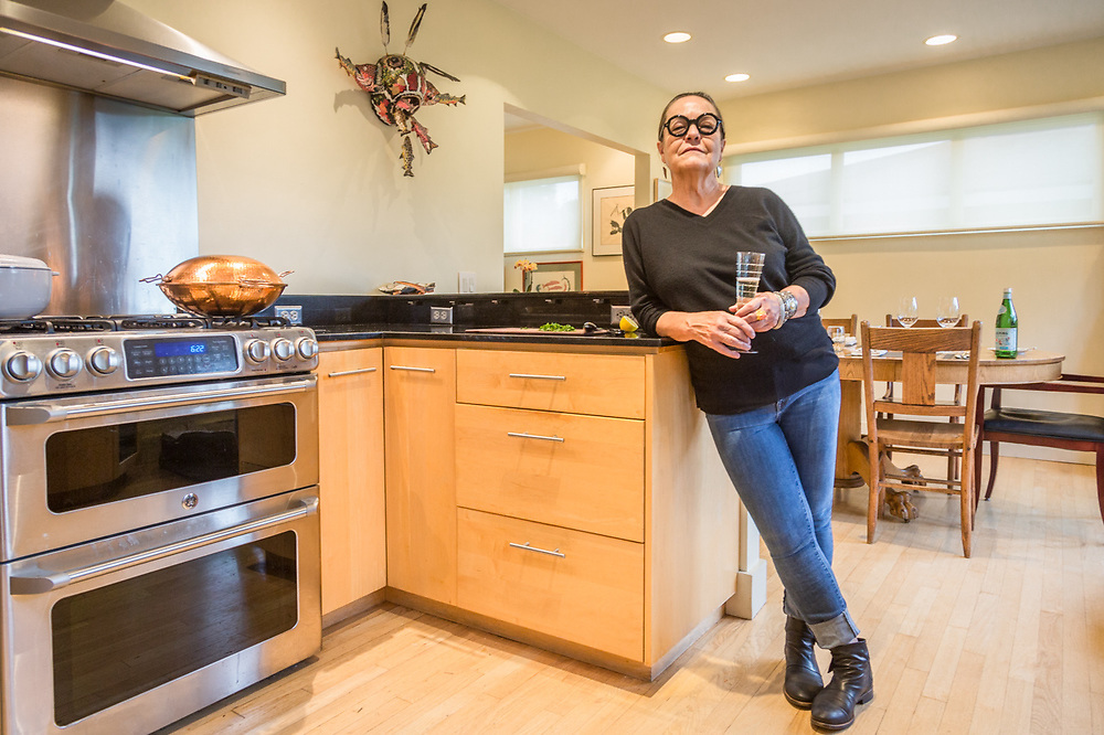 """""""I like entertaining for people I really like.""""  -Linda Duck welcomes friends at her home in Anchorage."""