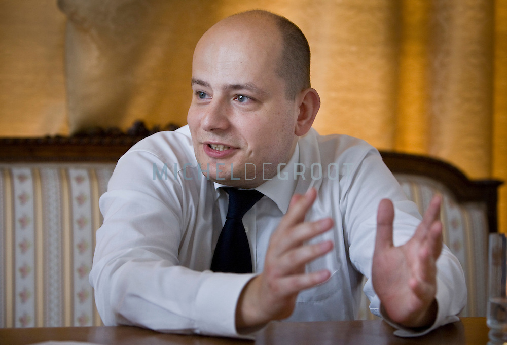 Poolse minister van Europese zaken Mikolaj Dowgielewicz on 02 July, 2008 in Den Haag, The Netherlands. Polish minister of European Affairs. (photo by Michel de Groot)