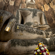 Wat Si Chum in Sukhothai, Thailand. The Sukhothai kingdom was an early Thai kingdom in north central Thailand. It existed from during the 13th to 15th centuries .