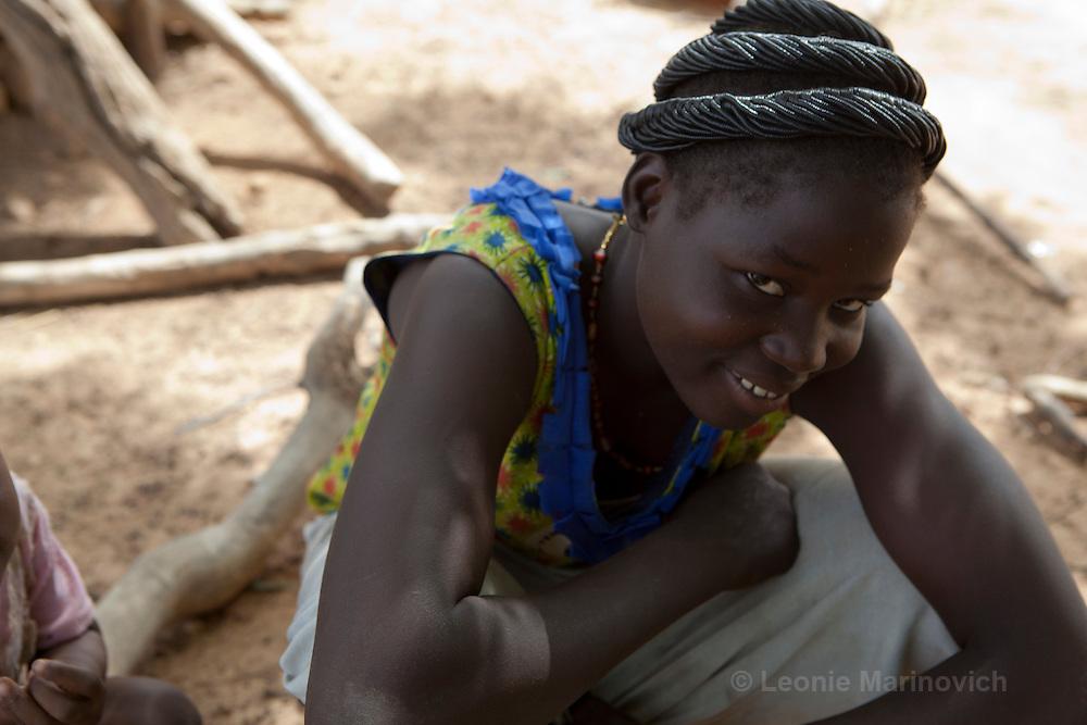 23 June 2010, Salogo, Burkina Faso. Mossi women and children.
