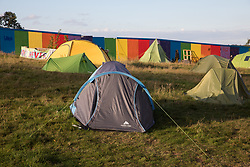 Kenilworth, UK. 24th August, 2020. Crackley Woods Protection Camp. Anti-HS2 activists continue to protest against and attempt to prevent or delay works in connection with the controversial HS2 high-speed rail link from a series of camps along the Phase One route from Euston to north of Birmingham.