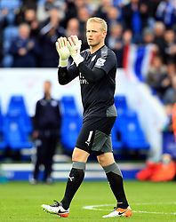Kasper Schmeichel of Leicester City  - Mandatory by-line: Matt McNulty/JMP - 24/04/2016 - FOOTBALL - King Power Stadium - Leicester, England - Leicester City v Swansea City - Barclays Premier League