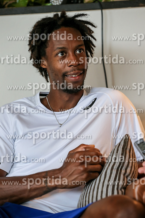17.06.2015, Gerry Weber Open, Halle, GER, Gael Monfils im Portrait, im Bild Gael Monfils (FRA) bei einem Interview und Fototermin // Tennis Player Gael Monfils of France during a Interview and Photoshooting at the Gerry Weber Open in Halle, Germany on 2015/06/17. EXPA Pictures &copy; 2016, PhotoCredit: EXPA/ Eibner-Pressefoto/ Horn<br /> <br /> *****ATTENTION - OUT of GER*****