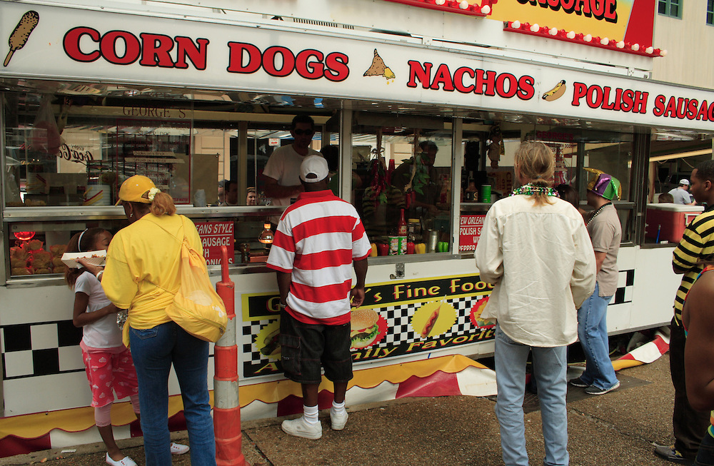 Hot Dog Stand, Mardi Gras 2008, New Orleans