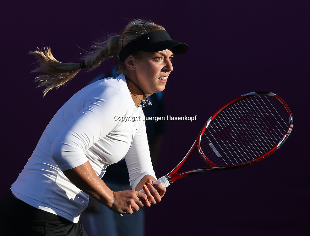Olympiade,Wimbledon,AELTC,London 2012.Olympic Tennis Tournament,Sabine Lisicki (GER),.Aktion,Einzelbild,Halbkoerper,Querformat,