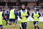 Wycombe Wanderers Forward Paris Cowan-Hall (12) warms up ahead of the EFL Sky Bet League 2 match between Wycombe Wanderers and Carlisle United at Adams Park, High Wycombe, England on 3 February 2018. Picture by Stephen Wright.