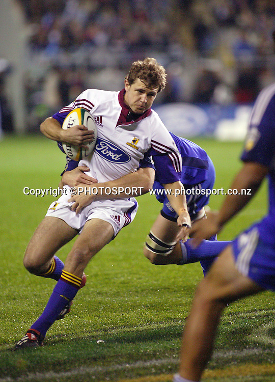 8 May, 2004. Rugby Union Super 12. Eden Park, Auckland, New Zealand. Blues v Highlanders.<br /> <br /> Nick Evans.<br /> The Blues won the match, 50 - 22.<br /> Please credit: Photosport