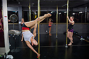Kayoko Suzuki 62-year-old Japanese woman who does pole-dancing fitness classes a Studio Verve Surry Hills Sydney.