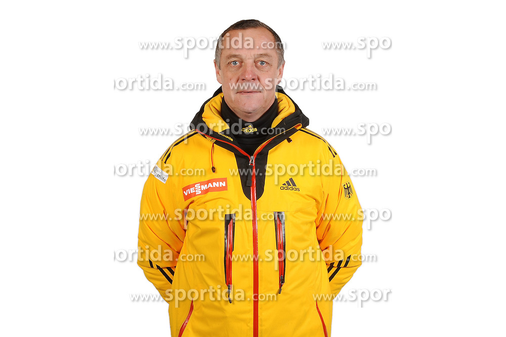 03.01.2014, Kunsteisbahn, Koenigssee, GER, BSD, Rennrodler Team Deutschland, Portrait, im Bild Rennrodel-Bundestrainer Norbert Loch // during Luge athletes of team Germany, Portrait Shooting at the Kunsteisbahn in Koenigssee, Germany on 2014/01/04. EXPA Pictures &copy; 2014, PhotoCredit: EXPA/ Eibner-Pressefoto/ Stuetzle<br /> <br /> *****ATTENTION - OUT of GER*****