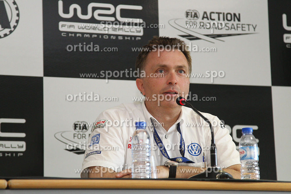 13.04.2013, Loule, POR, FIA WRC, Rallye Portugal, Pressekonferenz, im Bild Jost CAPITO (Motorsportchef von Volkswagen), // during press conference // after the FIA WRC Rallye of Portugal, Loule, Portugal on 2013/04/13. EXPA Pictures © 2013, PhotoCredit: EXPA/ Eibner/ Alexander Neis..***** ATTENTION - OUT OF GER *****