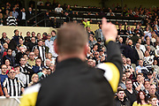 Notts county Manager Kevin Nolan waves to the county supporters during the EFL Sky Bet League 2 match between Notts County and Coventry City at Meadow Lane, Nottingham, England on 18 May 2018. Picture by Jon Hobley.