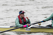 Hammersmith, GREATER LONDON. United Kingdom Cambridge University  Boat  Club, Pre Boat Race Fixture CUBC vs ITA M8+ for the 2017 Boat Race The Championship Course, Putney to Mortlake on the River Thames.<br /> <br /> Saturday  18/03/2017<br /> <br /> [Mandatory Credit; Peter SPURRIER/Intersport Images]<br /> CUBC. Cox. Hugo Ramambason