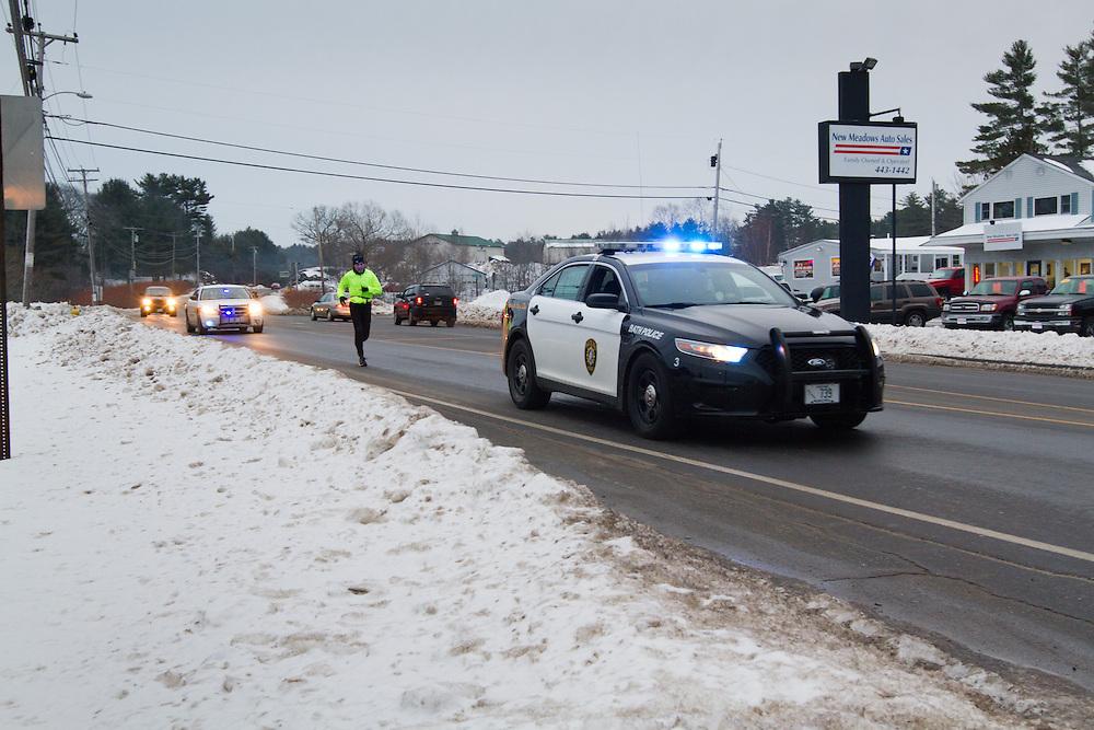 Gary Allen runs from Maine to Washington DC, police escort in West Bath