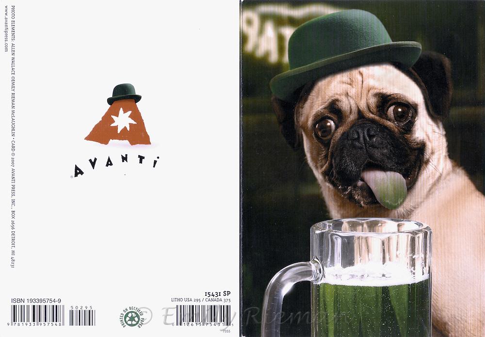 St. Patrick's Day greeting card, Avanti Press