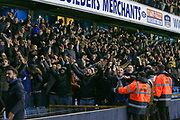 Millwall fans taunt Everton fans after the win during the The FA Cup fourth round match between Millwall and Everton at The Den, London, England on 26 January 2019.