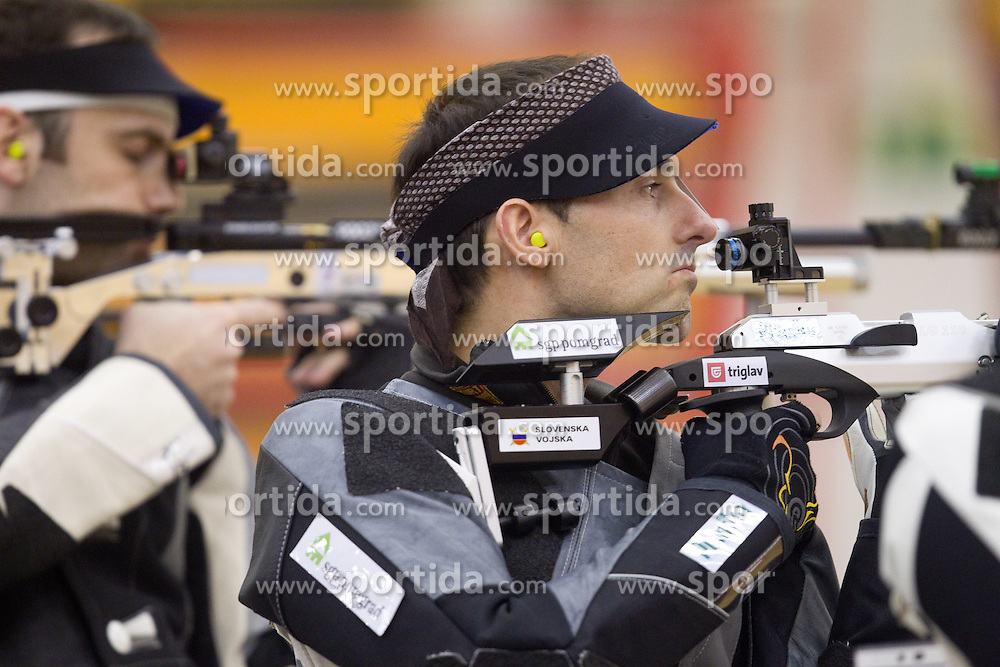 Robert Markoja of Slovenia  during International Air Rifle and Air Pistol competition Ruse 2011, on January 16, 2011 in Ruse at Maribor, Slovenia. (Photo By Vid Ponikvar / Sportida.com)