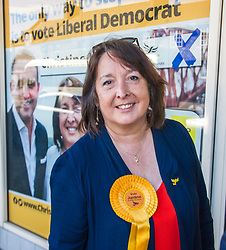 Pictured: Christine Jardine<br /> Scottish Liberal Democrat candidate for Edinburgh West, Christine Jardine launched her campaign today for the Weastminster Parliament. She wase joined by former leader Menzies Campbell, MSP Alex Cole-Hamilton and Scottish Liberal Democrat leader Willie Rennie.<br /> <br /> Ger Harley | EEm 6 May2017