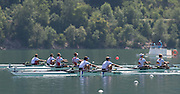 Aiguebelette, FRANCE.  Men's lightweight double sculls, FRA LM2X winning and celebrating, Stany DELAYRE  and Jeremie AZOU   2014 FISA World Cup II, 11:39:05  Sunday  22/06/2014. [Mandatory Credit; Peter Spurrier/Intersport-images]