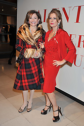 Left to right, DORIT MOUSSAIEFF and LADY FORTE at a private view of 'Valentino: Master Of Couture' at Somerset House, London on 28th November 2012.