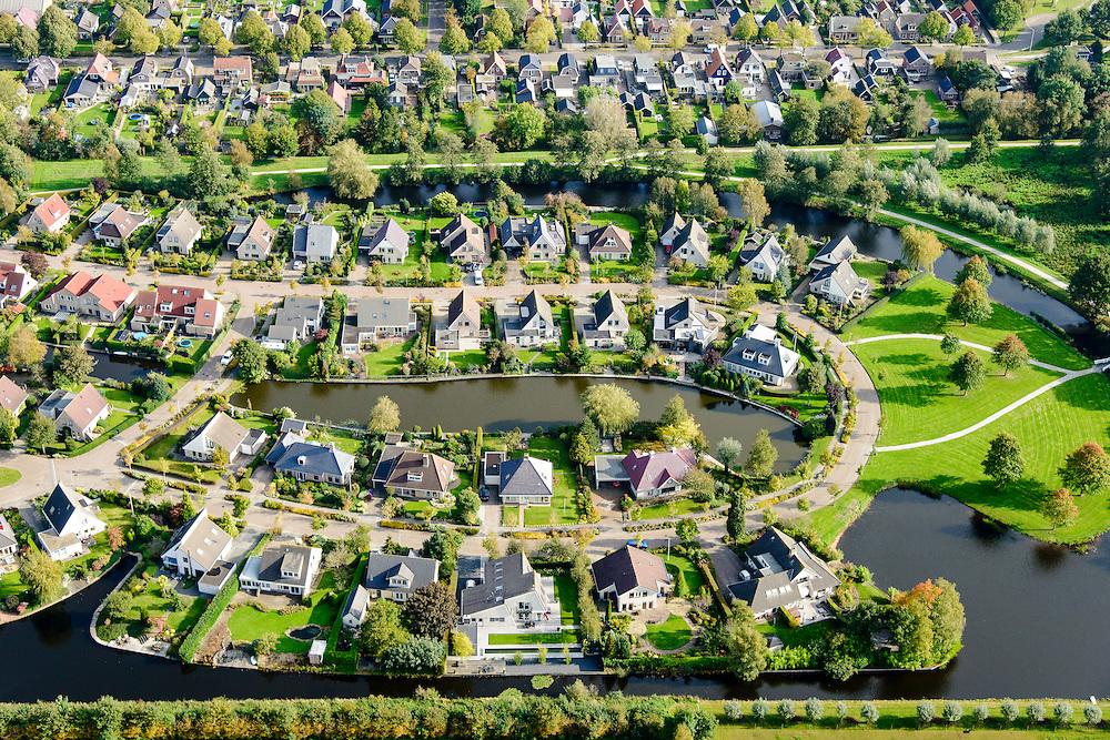 Nederland, Friesland, Gemeente De Friese Meren , 10-10-2014; Joure, nieuwbouwwijk.<br /> luchtfoto (toeslag op standard tarieven);<br /> aerial photo (additional fee required);<br /> copyright foto/photo Siebe Swa