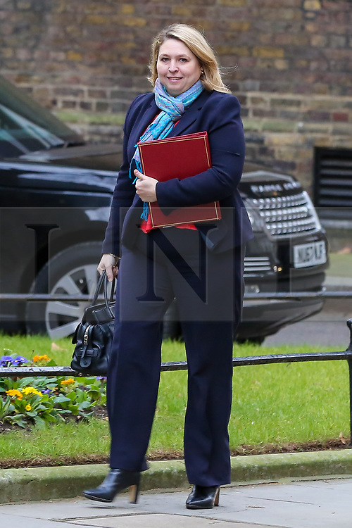© Licensed to London News Pictures. 15/01/2019. London, UK. Karen Bradley - Secretary of State for Northern Ireland arrives in Downing Street for the weekly Cabinet meeting. Later today, after five days of debate in the House of Commons, MPs will vote on the British Prime Minister Theresa May's EU Withdrawal deal. Photo credit: Dinendra Haria/LNP