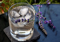 Lavender gin and tonic, a sophisticated light before dinner cocktail, is one option when cooking with lavender.(Janet Jensen/Staff photographer)