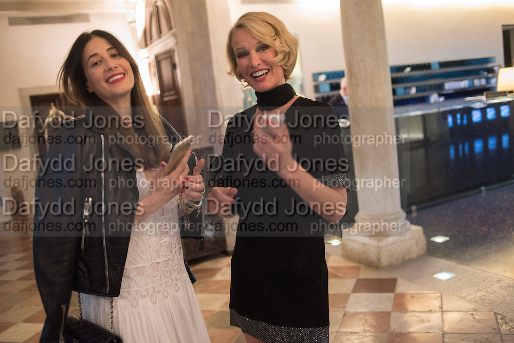 YARA LAPIDUS; KAREN MULDER, Dinner for Sonia Falcone to celebrate her participation in 56th Venice Biennale she represented Bolivia at the Pavilion of the Instituto Italo-Latinoamericano at the Arsenale. Dinner at the Ridotto Ballroom, Hotel Monaco and Grand Canal, Venice, Venice Biennale, Venice. 8 May 2015