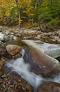 Fall Foliage and creek Vermont