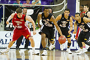 Former Richland forward Leyton Hammonds #25 brings the ball up court for the North team during the 2013 THSCA All-Star Basketball Game at Daniel - Meyer Coliseum in Fort Worth on Monday, July 29, 2013. (Cooper Neill/Special Contributor)