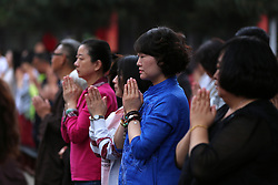 June 7, 2017 - Shenyan, Shenyan, China - Shenyang, CHINA-June 7 2017: (EDITORIAL USE ONLY. CHINA OUT) ..Parents of examinees pray for good luck at Ci'en Temple in Shenyang, northeast China's Liaoning Province, June 7th, 2017, hoping that their children will get high scores in the National College Entrance Examination. (Credit Image: © SIPA Asia via ZUMA Wire)