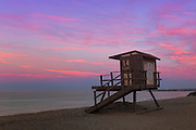 Lifeguard Tower on the Beach in Orange County