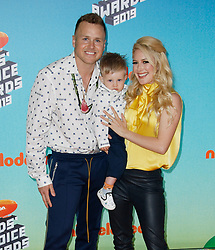 March 23, 2019 - Los Angeles, CA, USA - LOS ANGELES, CA - MARCH 23: Spencer Pratt, Gunner Stone, Heidi Montag attend Nickelodeon's 2019 Kids' Choice Awards at Galen Center on March 23, 2019 in Los Angeles, California. Photo: CraSH for imageSPACE (Credit Image: © Imagespace via ZUMA Wire)
